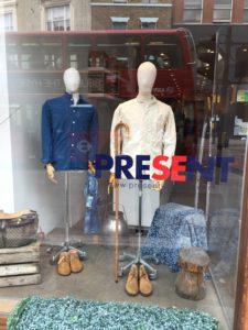 PRESENT London debuts Shanghai Centric Pin Bu indigo scarves & vintage fabrics